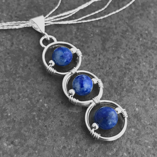 Express your Life Purpose - 5th Chakra - Lapis Lazuli with Infinity Loop - EliseLebeau.com