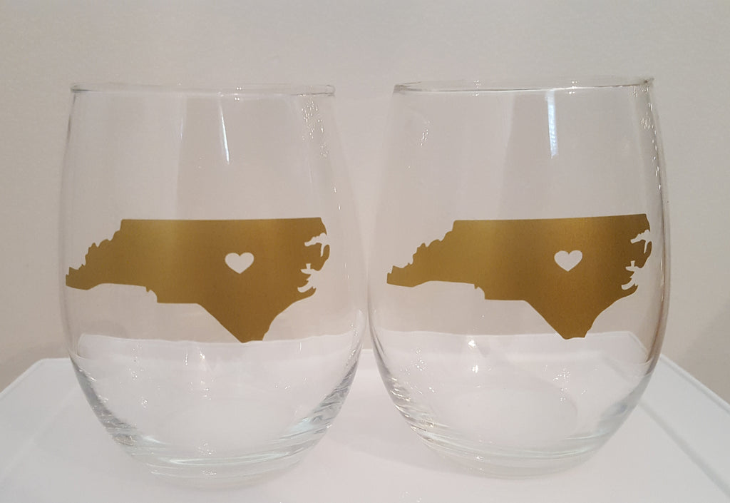 Set of State Wine Glasses