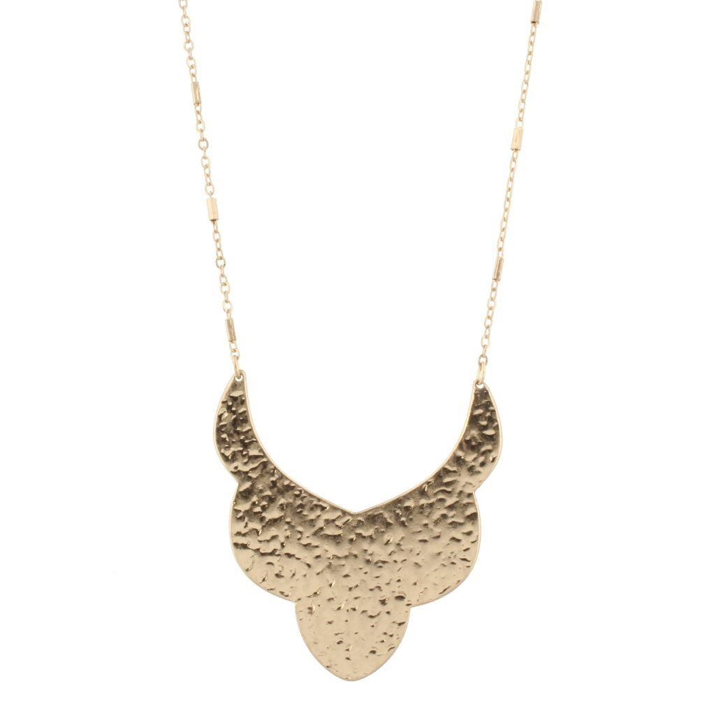Gold Bib with Gold Chain Necklace