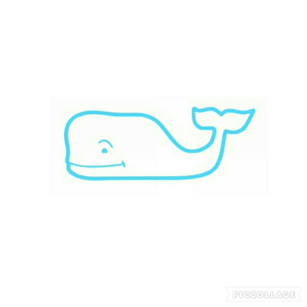 Whale Vinyl Sticker/Decal (Solid Color)