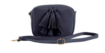 Spring Tassel Crossbody - Black