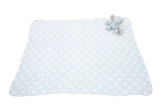 Plush Blanket - Blue Elephant
