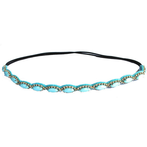 Teal Diamond Headband