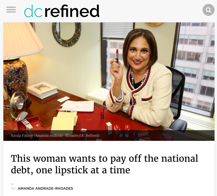 This woman wants to pay off the national debt, one lipstick at a time