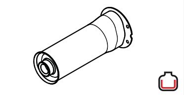 143.332 Protection tube for screw-on nozzles