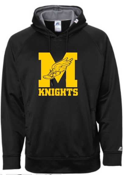 James Madison Cross Country Black Russell athletic hoodie.