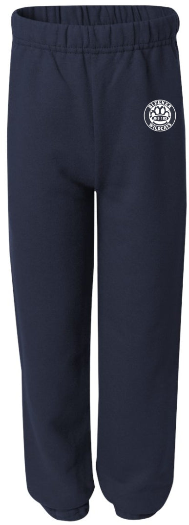 Edward Bleeker Navy Youth Large Sweatpant. Youth Large Only!
