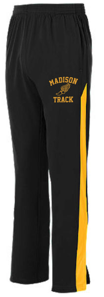 Mens James Madison Black/Gold Track Pant.