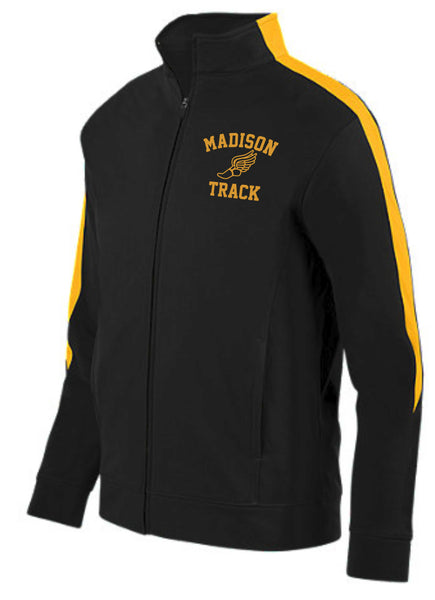 Mens James Madison Black/Gold Track Jacket.