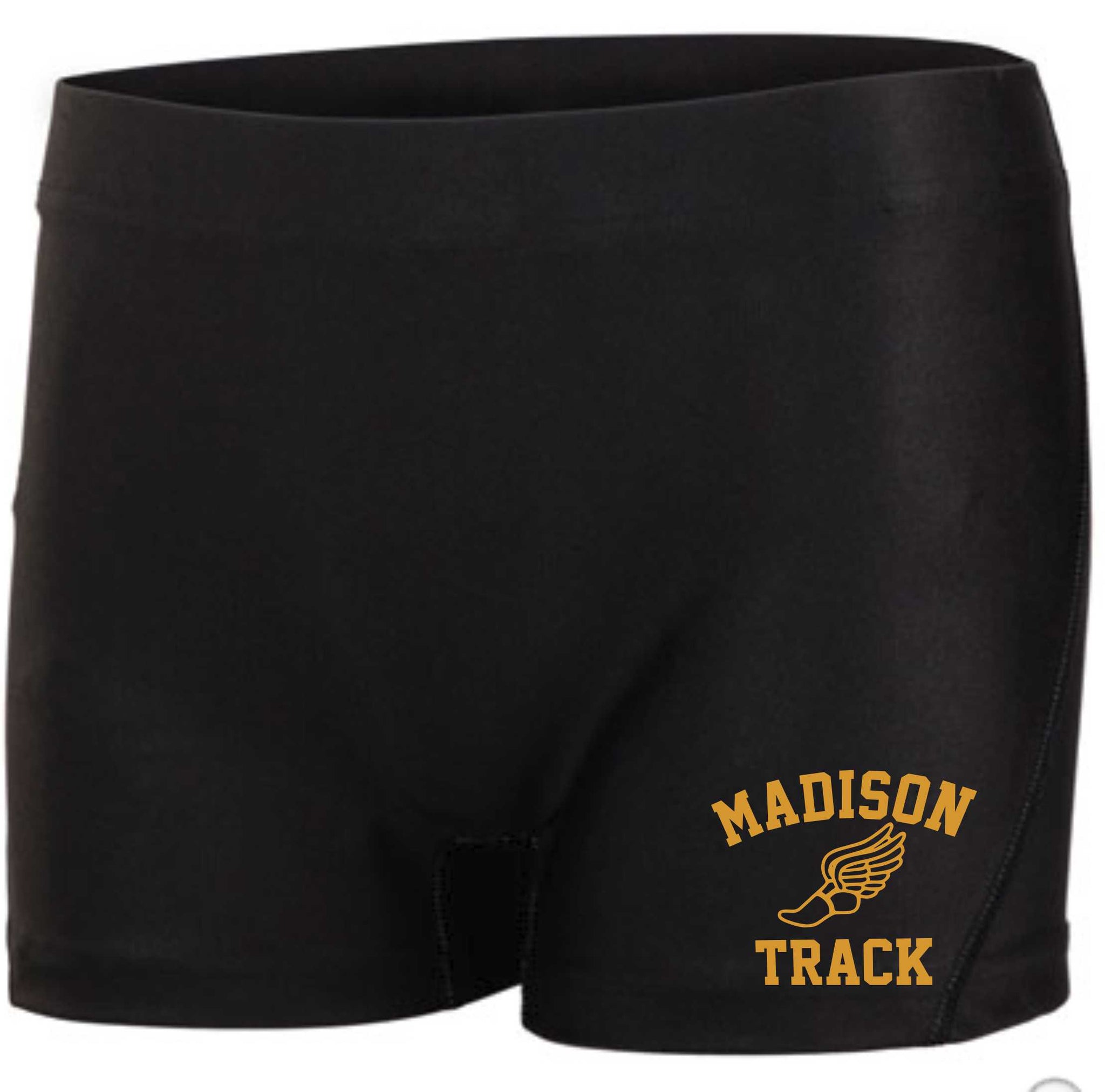 Womens James Madison Black Track Short