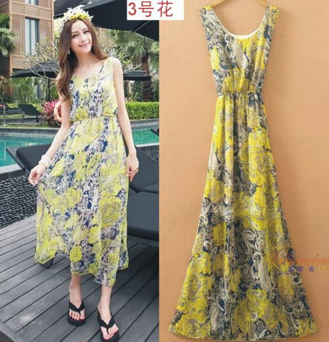 Summerish Bohemian Gown in bright color