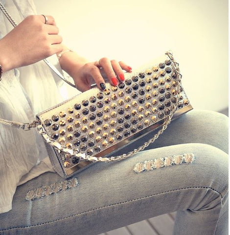 Buyvel Rivetted Party Clutch
