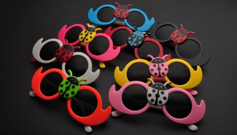 Kids Multicolor  Lady Bug Cute Sun Glasses