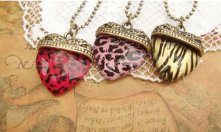 New Love Couple His and Hers Gold Heart-shape Pendent