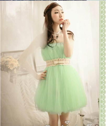 Green Ethnic Ball Gown Dress