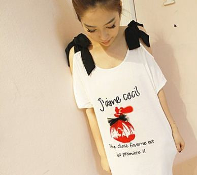 Buyvel White  Ribbon Top