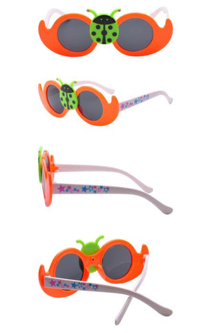 kids orange lady bug cute sunglasses