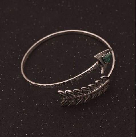 Antique Silver, Spiral Arrow Tribal Armlet