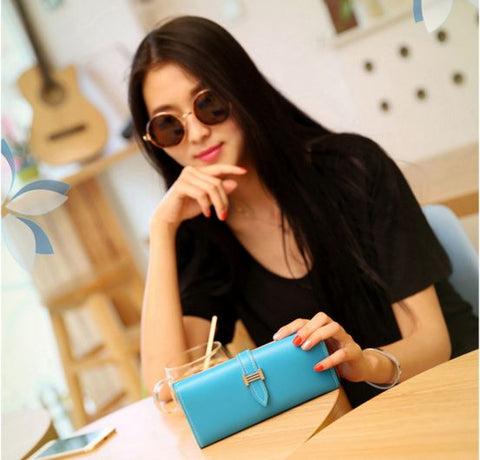 2016 trendy Money Holder, Card Holder women wallet cum clutch