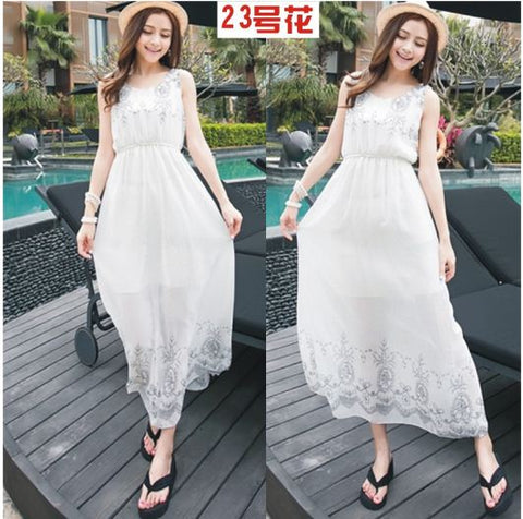 White chic bohemian gown from buyvel