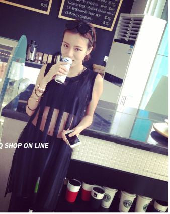 Buyvel Black Stripes Long Top