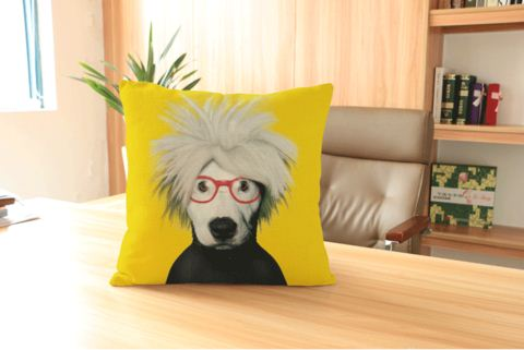 Highlighted Smarty Doggy Cotton Linen Cushion Covers 45cmX45cm