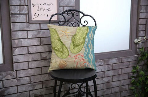Highlighted Cotton Linen Life Besides Sea Cushion Covers