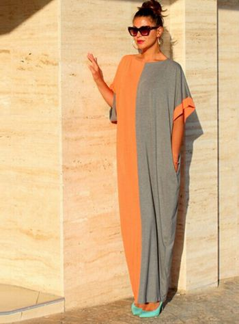 Adrobale Long Loose Egyptian Gown