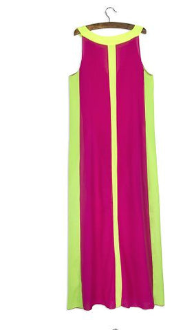 Celebrity Gown Striped in Neon Colors 2016 Collection