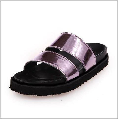 Open Toed Summer Flat Slippers