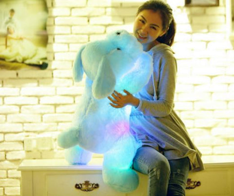 Color changing Led Light Dog Soft Plush Toy