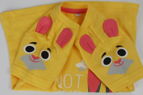 Crazy Animals Child City T-Shirt Zootopia 2016 Judy rabbit baby cotton short-sleeved summer children