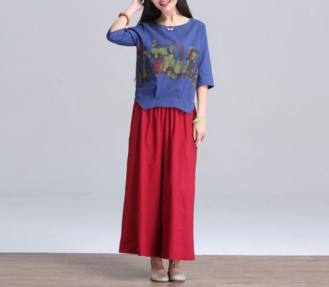 Buyvel Tee With Designer Pant Plazzo Pants