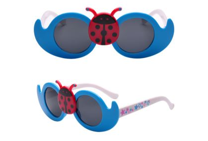 Kids blue Lady Bug Cute Sun Glasses