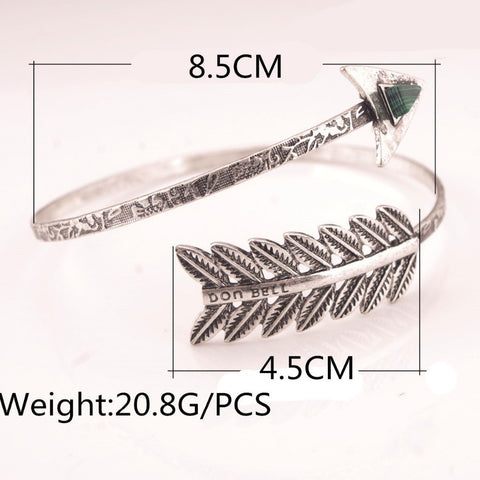 BUYVEL ANTIQUE SILVER SPIRAL ARROW TRIBAL ARMLET