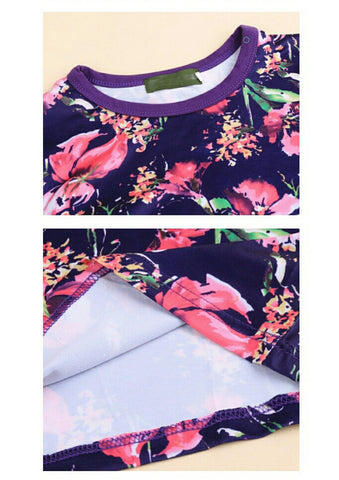Buyvel Floral Print Baby Skirt & Top