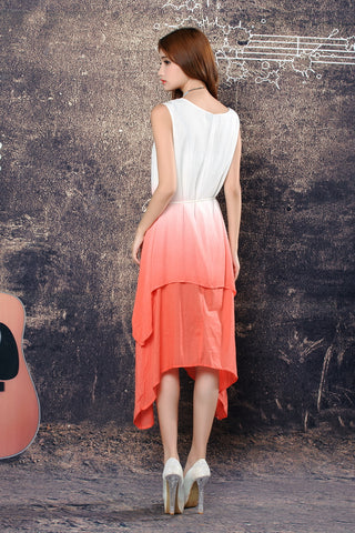 Buyvel Shaded Maxi Dress With Linen Belt