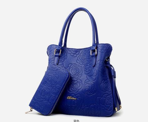 Chic Highly Spacious, three big compartments, Luxury Bags Buy handbag and get clutch free