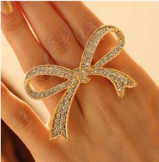 Golden And Silver Butterfly Style Trendy Ring