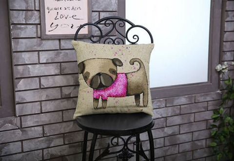Cartoon Cotton Vintage Linen Cushions Covers