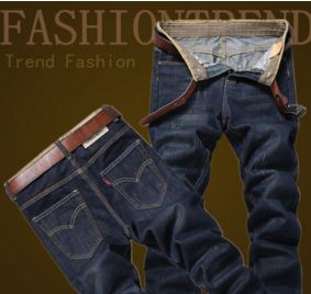 Blue Washed Popular Brand Comfortable Jeans
