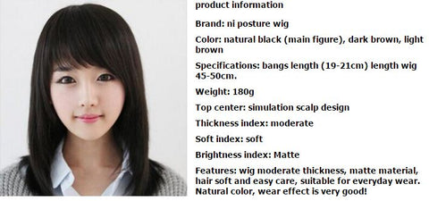 Fashionable Black Short layered Straight Lady Washable Wig Party/Daily