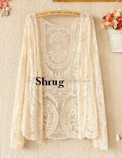 Long Summer Embroydery Designer Net Shrug