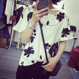 Floral Embroiydery White Bat Sleeve Top Tops, Tees & Shirts- Available online on Buyvel