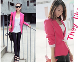 "All Season Blazers with ""Turn Up Sleeves"" - ROSE RED Blazers- Available online on Buyvel"