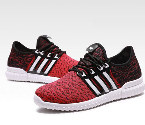 Flyline Casual Running Shoes Red Unisex Footwear- Buyvel