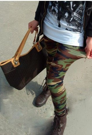 Army Leggings Green