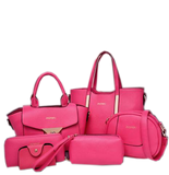 Luxury Crossbody Ladies 6 Set Bags Pink Set Bags- Available online on Buyvel