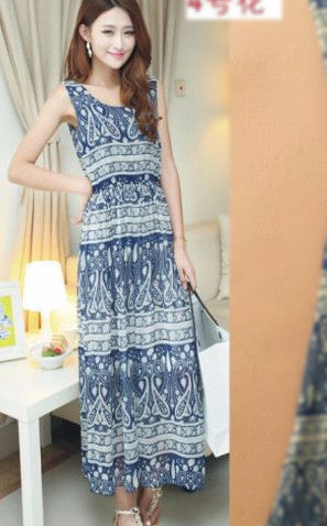 Long Bohemian Gown in sober Color also worn as long kurti Dresses- Available online on Buyvel