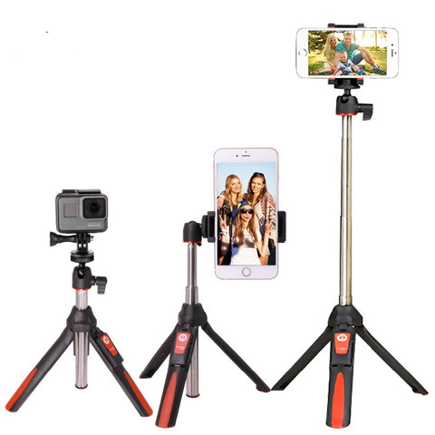 33inch Handheld Tripod Selfie Stick 3 in 1 Bluetooth Extendable Monopod Selfie Stick Tripod for iPhone 8 Samsung Gopro 4 5